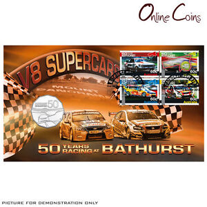 2013 Bathurst 50 Years of Endurance Racing PNC -  Stamp & Coin Cover LAST STOCK