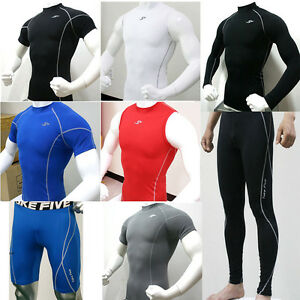 Mens-Compression-Under-Base-Layers-Tops-Shirts-Pants-Tights-Shorts-Gear-Cycling