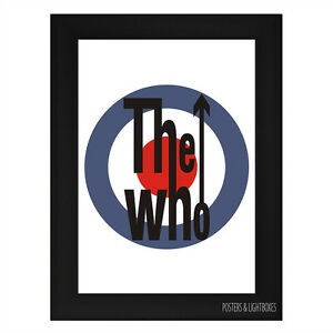 THE WHO LOGO BADGE Framed Music Band Poster A4 Black Frame