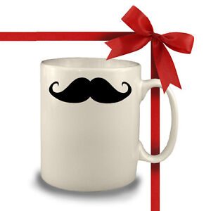 MOUSTACHE-MUG-FUNNY-FUN-COFFEE-CUP-PERSONALISED-GIFT-TEA