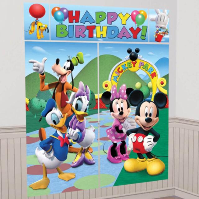 Disney Mickey Mouse Birthday Scene Setter Add-on Banner Wall Decoration Kit