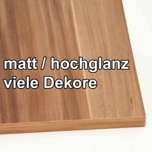 hochglanz mdf platten spanplatten fronten zuschnitt viele dekore ebay. Black Bedroom Furniture Sets. Home Design Ideas