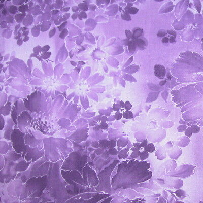 C967-01-2 Fabri-quilt connections Shadow Floral Tone On Tone Purple By Yd
