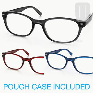 NEW-WAYFARER-RIMMED-READING-GLASSES-BLACK-BLUE-RED-BROWN-1-0-1-5-2-2-50-3