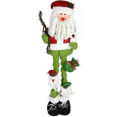99cm Quality Fabric Standing Santa Claus Festive Christmas Room Decoration Xmas