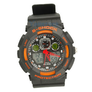 Sport Wristwatch Waterproof Multifunction Mens Boys Wrist Watch AK1055 Orange
