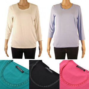 New-Betty-Barclay-Women-Designer-Detail-Round-Neck-Top-3-4-Sleeve-12-14-16-18-20