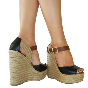 Creamy-Touch-Color-Blocked-Peep-toe-Braided-Wedge-Espadrille-Platform-Sandal
