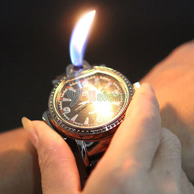 New Novelty Cool Watch Style Refillable Butane Gas Cigarette Cigar Lighter Black on Rummage