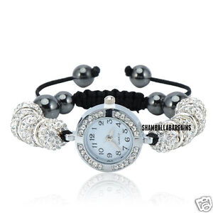 SHAMBALLA CRYSTAL DISCO BALL BLING BRACELET DIAMANTE SHAMBALA WATCH FREE GIFT