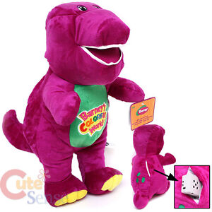 Barney Plush Doll withI Love Song Music by Fisher- Price 12