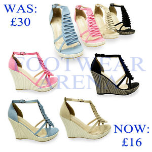New-Ladies-Strappy-Ankle-Platform-Wedge-Sandals-Womens-Shoes-Size-UK-3-4-5-6-7-8