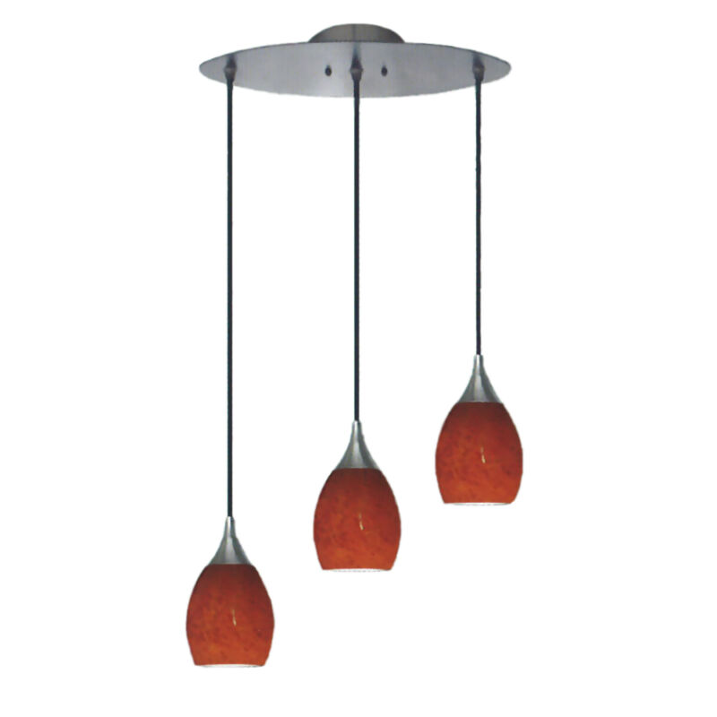 Brushed Nickel 3 Light Pendant
