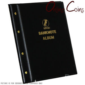 RENNIKS-Banknote-Album-including-6-x-3-Pocket-Note-Album-Pages-Black