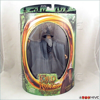 Lord Of The Rings Fellowship Gandalf Withlight-up Staff Action Lotr Half Moon