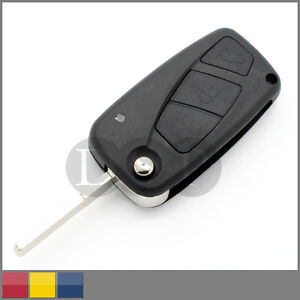 Folding-Remote-Key-Case-for-FIAT-Punto-Ducato-Stilo-Panda-Flip-Fob-Black-3-BTN