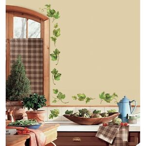 Http Ebay Com Itm 38 New Ivy Leaves Wall Decals Peel Stick Kitchen Stickers Green Country Decor 150748793219