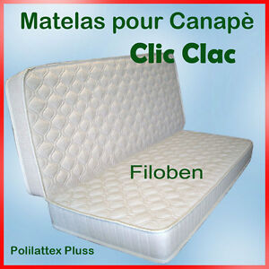 matelas pour canap clic clac polilattex plus ebay. Black Bedroom Furniture Sets. Home Design Ideas