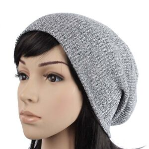 D10286-UNISEX-BEANIE-CROCHET-KNIT-HAT-WOMEN-MEN-SLOUCH-OVERSIZE-BAGGY-GRAY