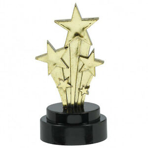6 x HOLLYWOOD Oscars Movie PARTY Gold STAR AWARD Statue
