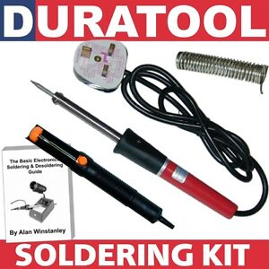 60W-Watt-Soldering-Iron-Kit-60-40-Lead-Solder-Wire-ESD-De-Solder-Desolder-Pump