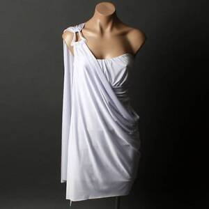 Grecian-Goddess-Strapless-OR-One-Shoulder-Evening-Womens-Party-Dress-sz-S-M-L
