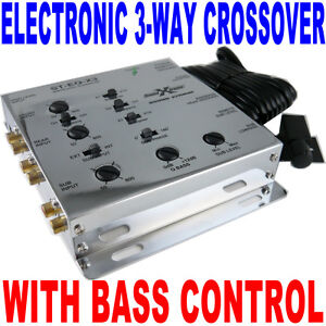 SoundXtreme-3-Way-Compact-Electronic-Crossover-Chrome-New-FAST-FREE-SHIPPING