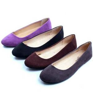 Casual-Slip-On-Shoes-Ladies-Faux-Suede-Ballerina-Slippers-Womens-Ballet-Flats