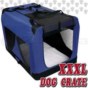 XXXL Large Portable Soft Pet Dog Crate Cage Tent Kennel Travel Folding Blue