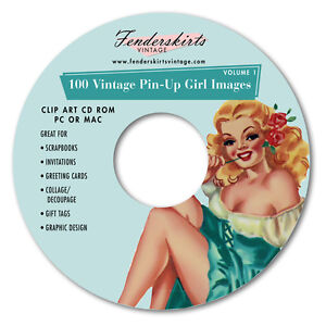 Vintage-40s-50s-PinUp-Pin-Up-Girl-Images-Clipart-Clip-Art-CD-Graphics-Crafts