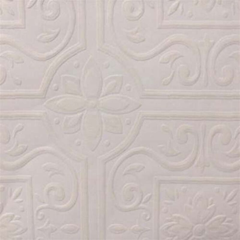 Paintable Wallpaper Embossed Tile Large Heavy Textured  148-59000