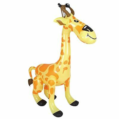 "36"" GIANT INFLATABLE GIRAFFE ZOO ANIMAL BLOW UP INFLATE PARTY TOY NOVELTY *NEW*"