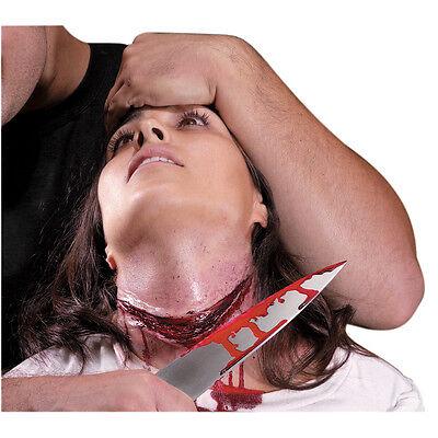 FAKE WOUND CUT SCAR SPECIAL EFFECT SLASHED NECK REEL F/X GURGLE LATEX MAKEUP (Halloween Slashed Neck)