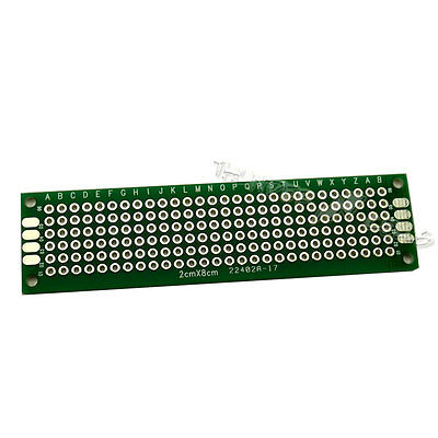 2 X Double Side 2x8 Cm 20x80 Mm Prototype Blank Plated Universal Pcb Board Fr4