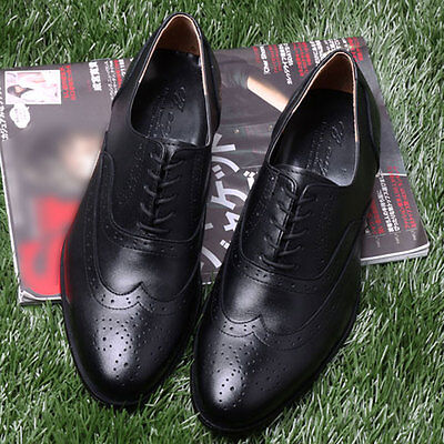 Mens Custom HandMade Shoes Genuine Leather Oxford WingTip Dress Great Quality
