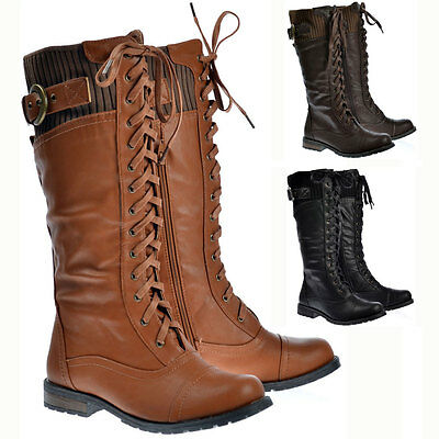 womens wide calf faux leather winter boots