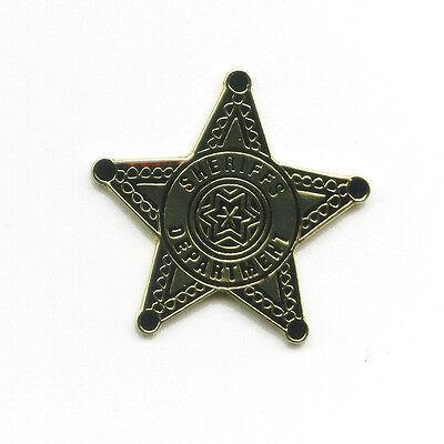 USA Sheriffs Department Sheriff Stern Polizei Badge Metall Pin Anstecker 0232