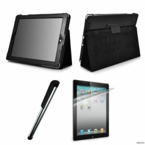 iPad-2-Smart-Cover-PU-Leather-Case-Screen-Protector-Stylus-Free-shipping