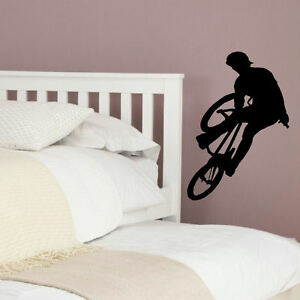 LARGE-BMX-BIKE-CHILDRENS-ART-BEDROOM-WALL-MURAL-BIG-STICKER-TRANSFER-VINYL-DECAL