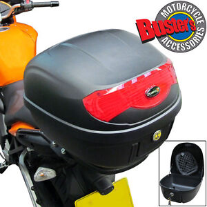 New-Cube-29-Litre-Black-Universal-Quick-Release-Motorcycle-Luggage-Top-Box-29L