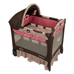 NEW! Graco Travel Lite Ultra-Comfy Crib with Removable Bassinet (Jacqueline)