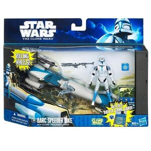 STAR WARS CLONE WARS: BARC SPEEDER BIKE with CLONE TROOPER JESSE
