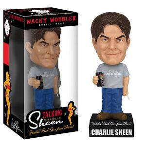 Funko-CHARLIE-SHEEN-TALKING-WACKY-WOBBLER-BOBBLEHEAD-Mint-in-the-Box