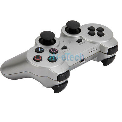 Wireless Bluetooth Game Controller for Sony Playstation 3 PS3 Silver on Rummage