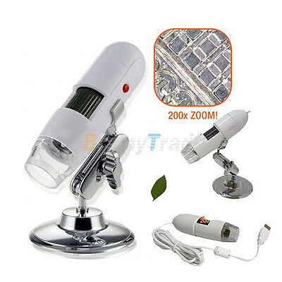 2MP USB Digital Microscope Endoscope Magnifier 20-200X on Rummage