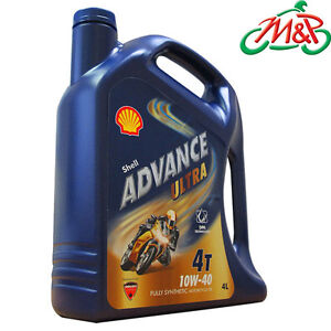 Shell Ultra Advance 10w40 4L Fully Synthetic Motorcycle Engine Oil