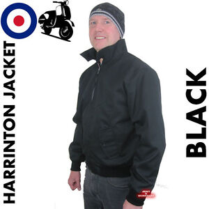 Classic Harrington jacket Vintage1970's Retro style MODs Skins Tartan Lining NEW