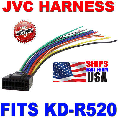 2010 Jvc Wire Harness 16 Pin Harness Kd-r520 Kdr520
