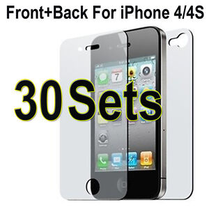 Wholesale 1-1000 Set Matte Anti Glare FullBody Screen Protector for iPhone 4S 4G