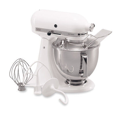 KitchenAid RRK150WH White 5-quart Artisan Stand Mixer (Refurbished)